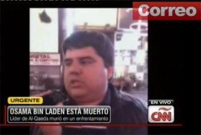 CNN: Dos peruanos celebran muerte de Bin Laden en Times Square