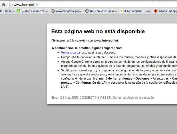 Anonymous ataca sitio web de la Interpol