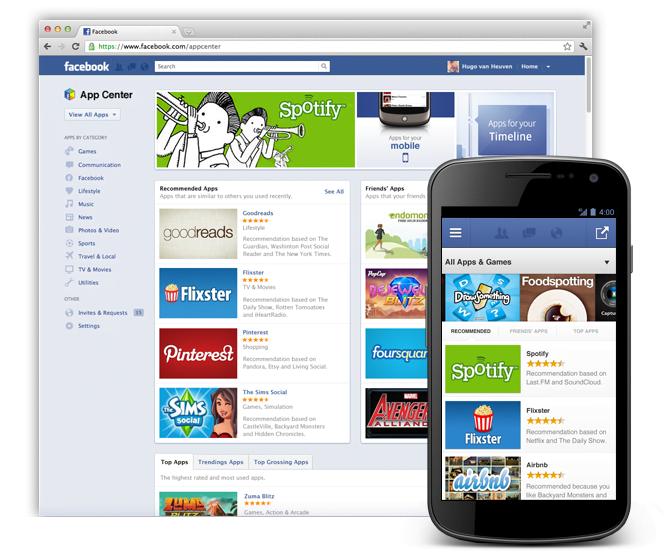 Facebook lanza su propia tienda de aplicaciones con App Center