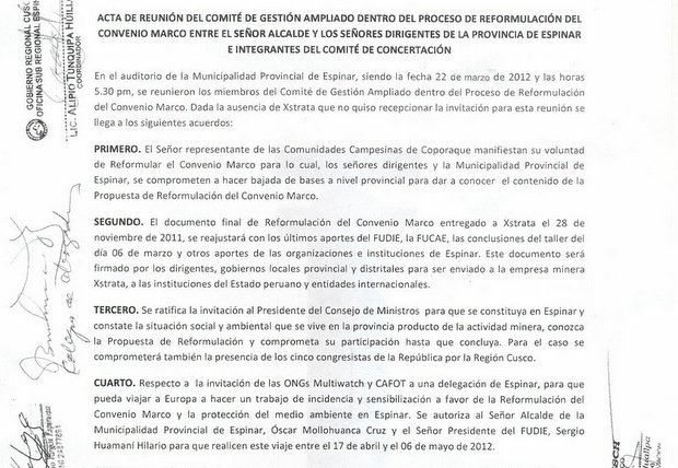 ONG antiglobalización 'Multiwatch' detrás de protestas en Espinar