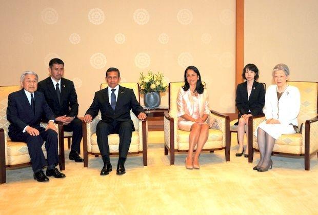 Ollanta Humala se reunió con el Emperador Akihito