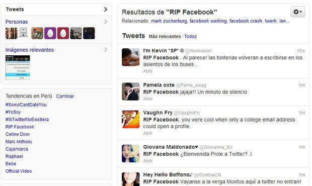 RIP Facebook, caída de popular red social es tendencia en Twitter