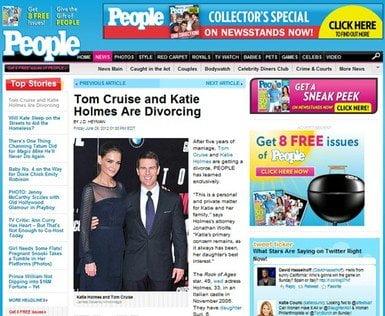 No fue el matrimonio perfecto: Tom Cruise y Katie Holmes se divorcian