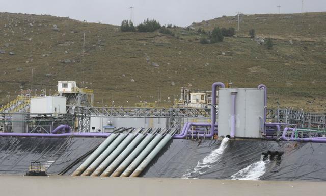 Yanacocha ya construye primer reservorio de agua en Conga