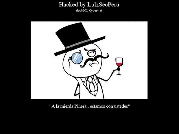 LulzSecPerú hackea web del Ministerio de Justicia de Chile