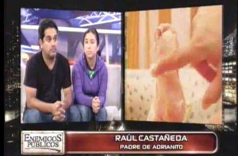 Raúl Castañeda y Khori Rodríguez, padres del niño mariposa