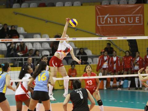 La selección infantil derrotó a Uruguay y sacó nota aprobatoria a pesar de perder un set.