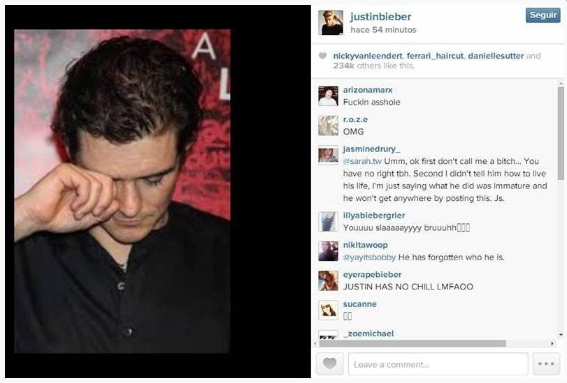 [FOTO] Justin Bieber se burla de Orlando Bloom tras recibir puñetazo