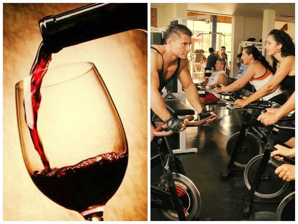 Una copa de vino tinto equivaldría a una hora de gimnasio