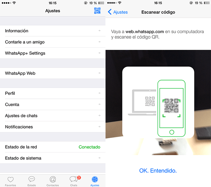 WhatsApp Web ya está disponible para iPhone
