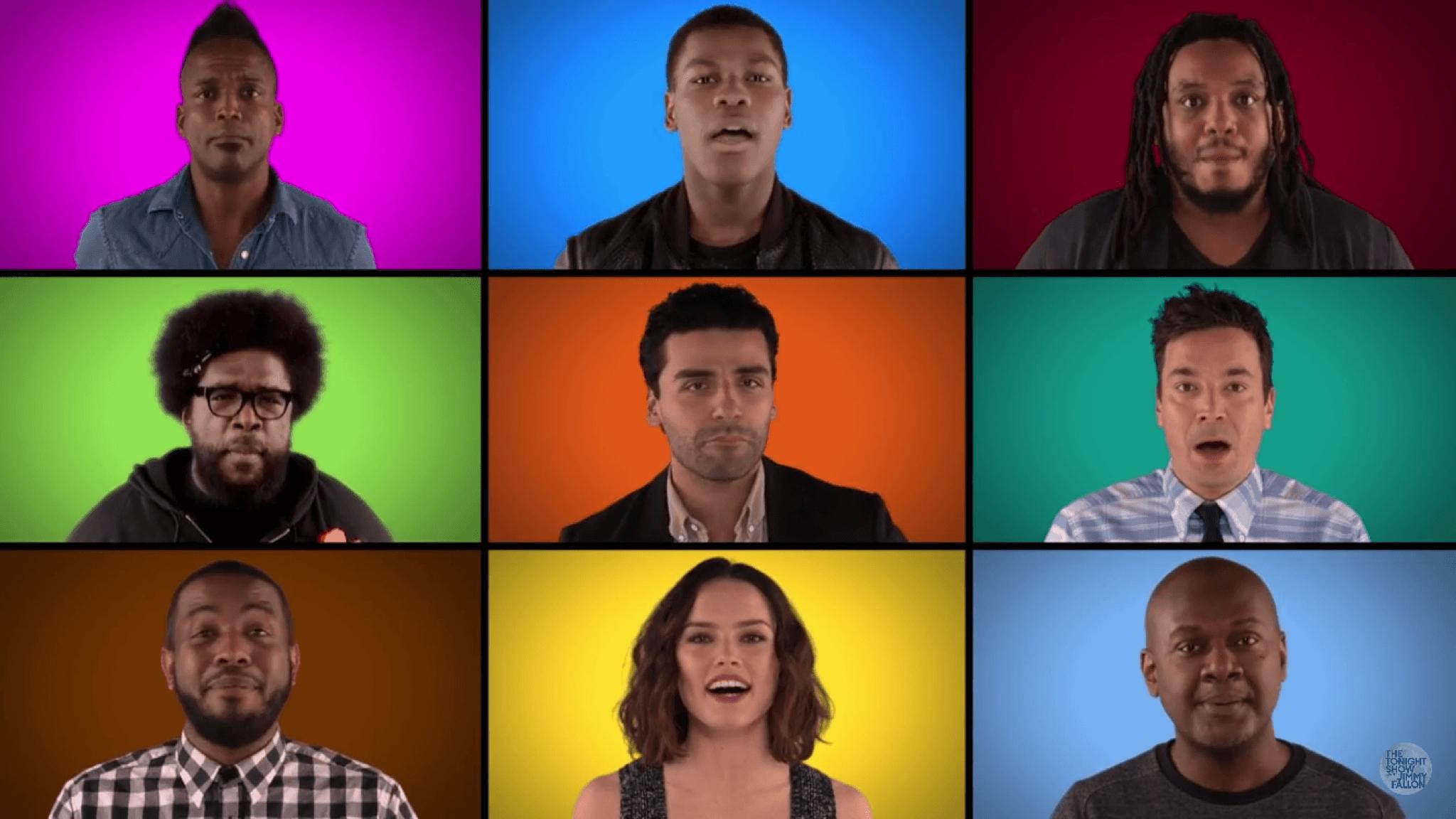 Star Wars: Jimmy Fallon, The Roots y actores interpretan soundtrack
