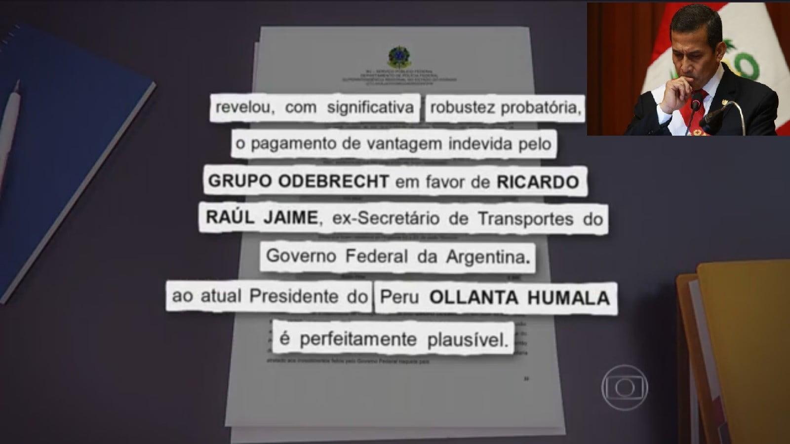 Ollanta Humala y documento de Policía Federal del Brasil