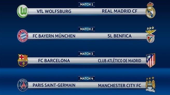 Barcelona chocará con Atlético de Madrid por cuartos de final de Champions League