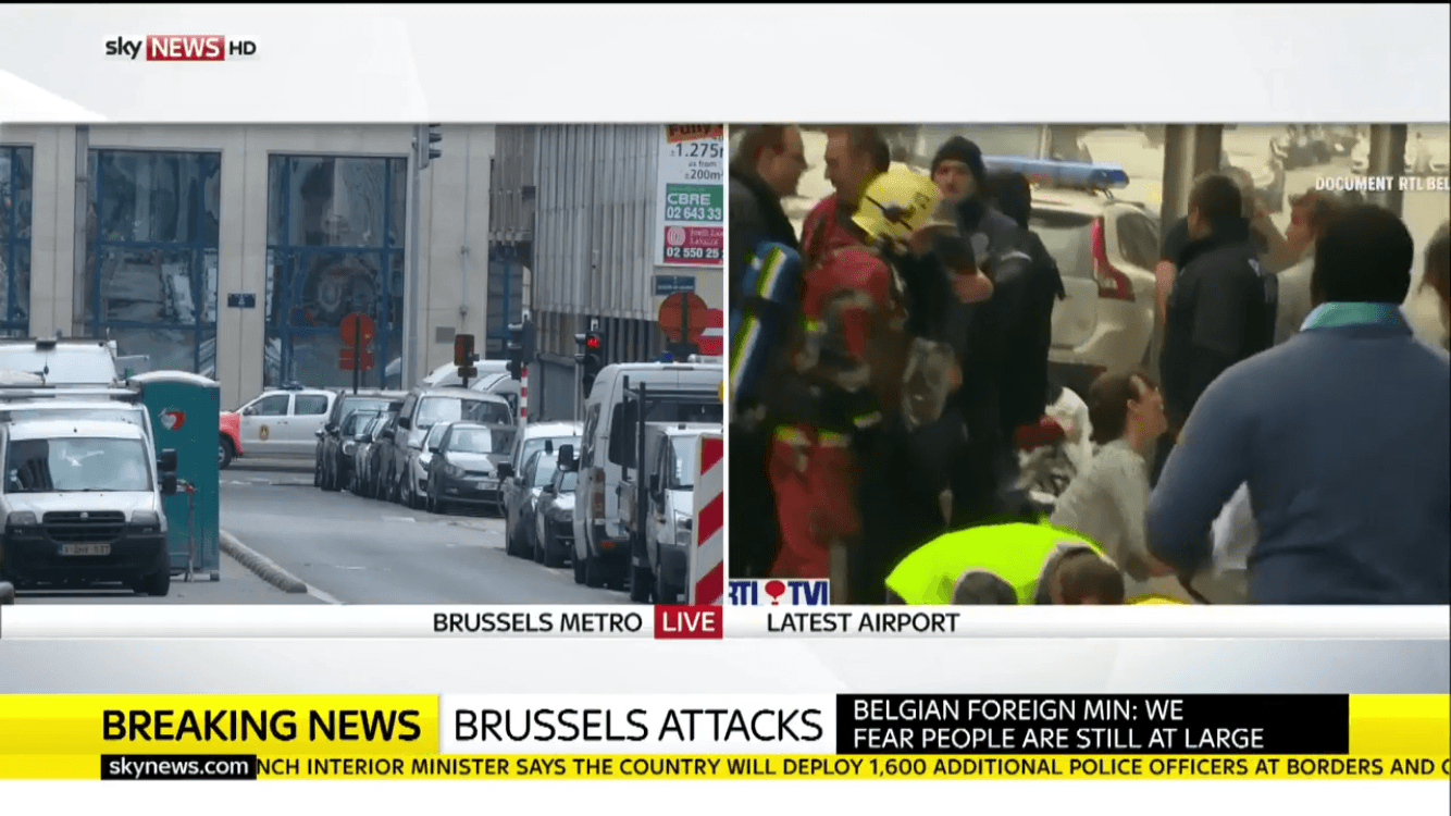 Atentado terrorista en Bruselas Bélgica