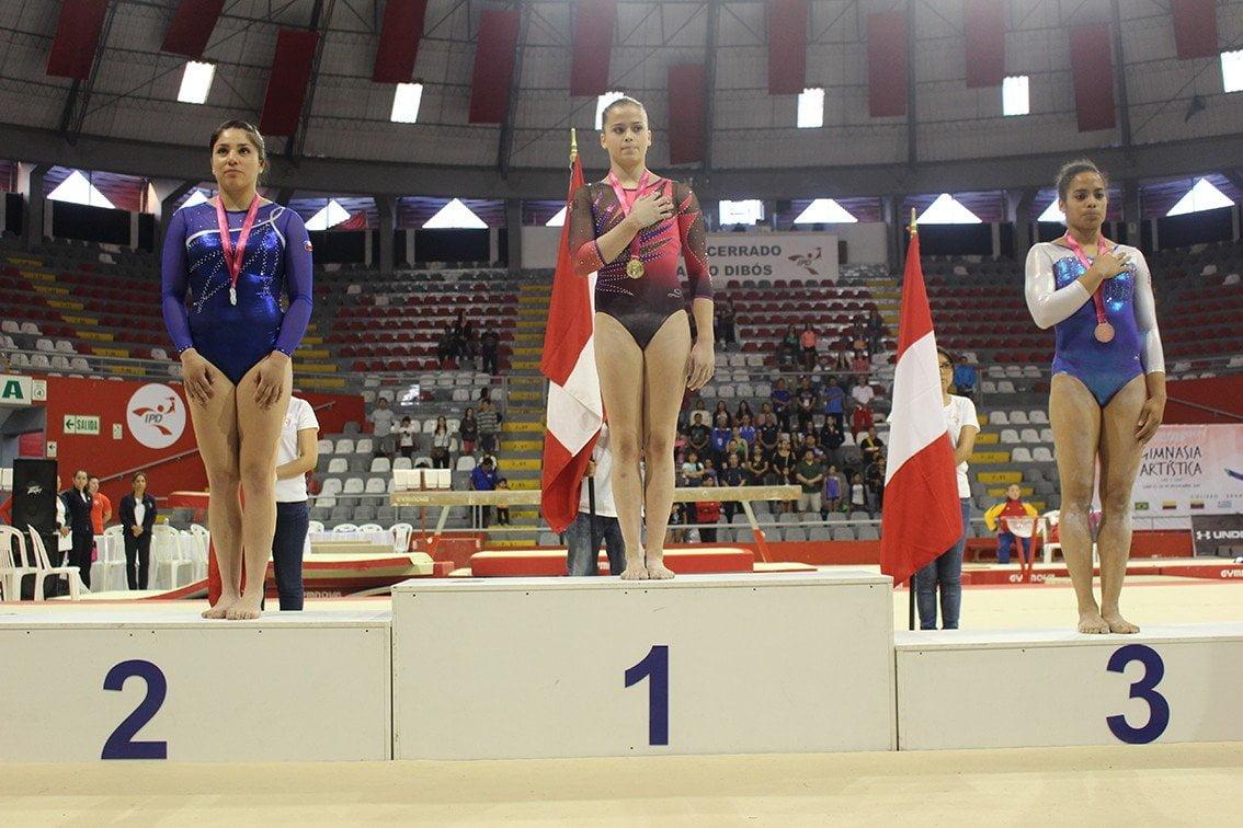 Ariana Orrego ganó dos medallas de oro en el Sudamericano de Gimnasia Artística