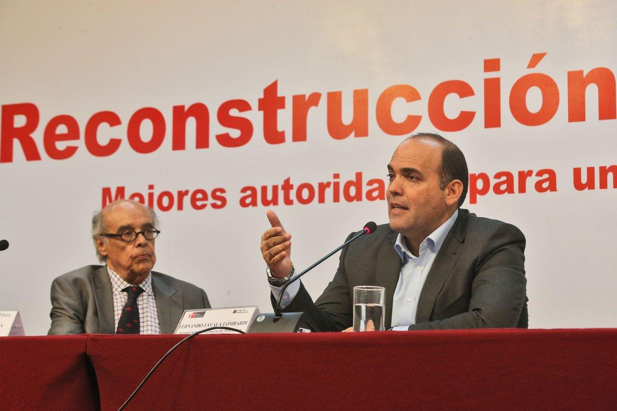 El premier Zavala dio alcances del Plan de Rehabilitación en el norte del país,