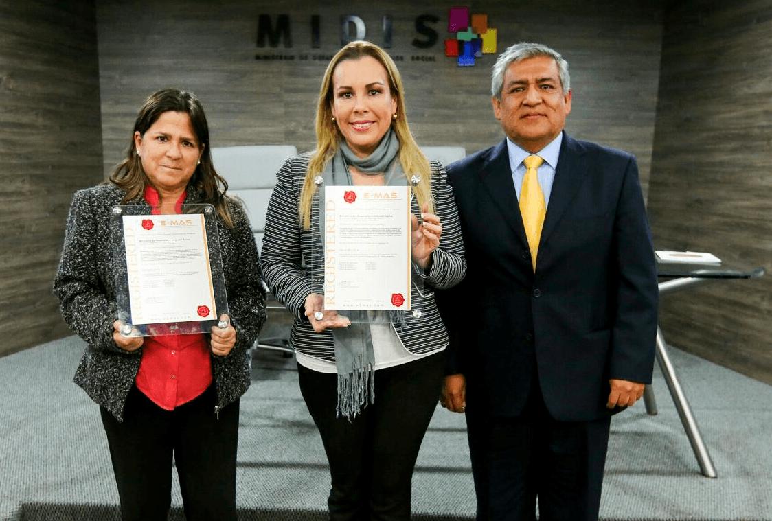 MIDIS es la primera institución del Ejecutivo en recibir certificación ISO por Sistema de Gestión Antisoborno