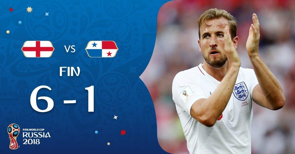 Inglaterra golea 6-1 a Costa Rica