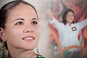 Candidata de Fuerza Popular se vacunó contra el COVID-19 en clínica de Trujillo