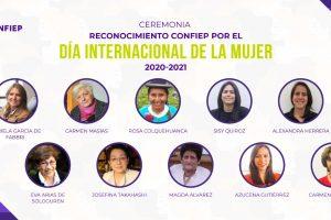 Día de la Mujer: CONFIEP rinde homenaje a 10 mujeres líderes